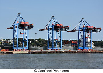 Port of Hamburg in Germany