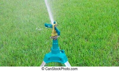 Garden watering sustem working