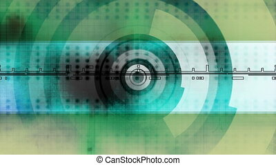 Motion graphic loop blue green - Looping animated geometric...