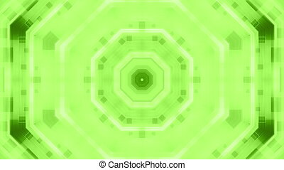 Green abstract fiction motion loop - Looping abstract green...