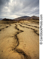 Muddy volcanoes from Romania - Dramatic landscape of muddy...