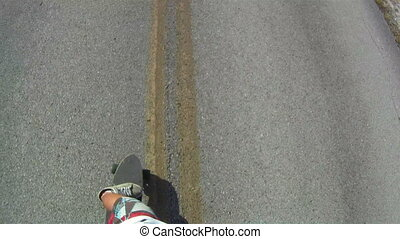 Skateboarder Point of View - skateboarding skateboarder...