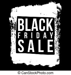 Black Friday sale grunge style vector illustration