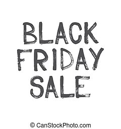 Black Friday sale handwritten lettering brush. Vector...