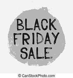 Black Friday sale handwritten lettering brush. circle Vector...