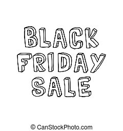 Black Friday sale simple handwritten lettering. Vector...