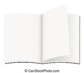 blank note book opening