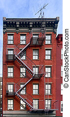Greenwich Village in New York City - Walkup apartment...