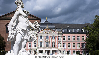 the kurfuerstliches Palais in Trier - Baroque building, the...