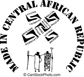 Made in Central African Republic - the stamp imprint for...