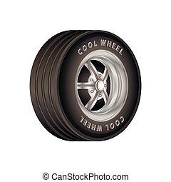 Car wheel. Illustration on white background for vector design