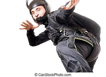 Skydiver, portrait