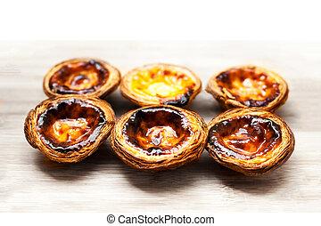Dessert egg tart sweet custard pie - Pasteis de nata