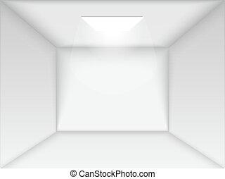 Vector empty white room.
