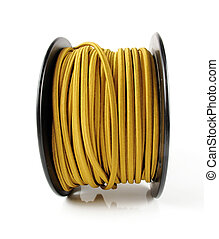 Spool of Yellow Wire - Large spool of yellow wiring...