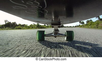 Skateboard POV - skateboarding skateboarder point of view HD...