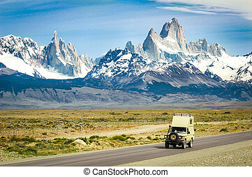 Sweeping view of National Park Los Glaciares in southern...