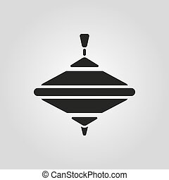 Whirligig icon. Whirlabout vector design. Peg-top symbol....