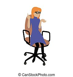 Woman Sitting on Armchair