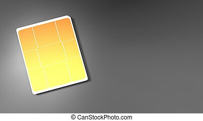 3d rendering of Sim card with nice background color - The 3d...