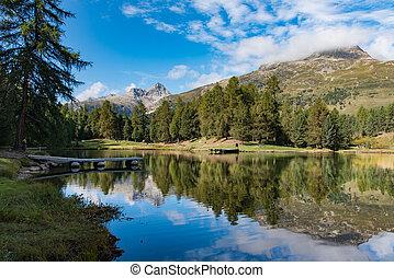 Lej Marsch (alpine lake) - Lej Marsch view in Engadine...