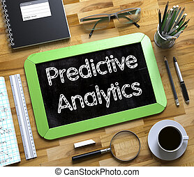 Predictive Analytics - Text on Small Chalkboard. 3D. - Top...