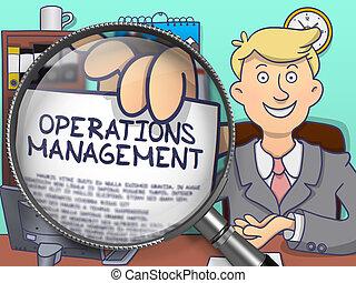 Operations Management through Lens. Doodle Concept.