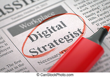 Digital Strategist Wanted. 3D. - Digital Strategist -...