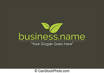 Business Logo Nature Green Color Template Vector