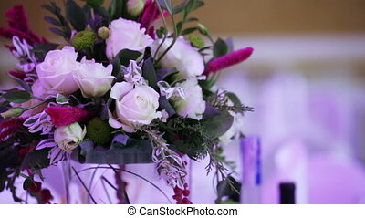 Decorative bouquet to served table
