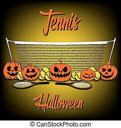 Tennis and Halloween - Tennis balls and halloween pumpkins...