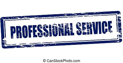 Professional service - Rubber stamp with text professional...