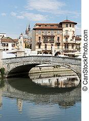 Bridge on Piazza Prato della Valle, Padua, Italy.