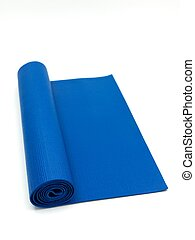 Exercise Mat - An exercise mat isolated against a white...