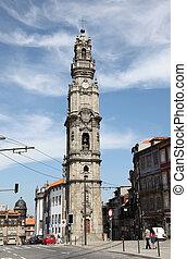 Igreja e Torre dos Clerigos Church inPorto, Portugal