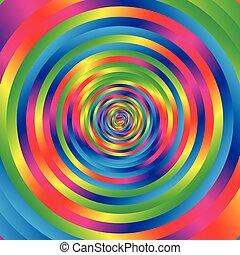 colorido, Extracto, aleatorio, patrón, Espiral, círculos, W,...