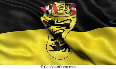 Baden Wuerttemberg flag seamless loop - Seamless loop of...