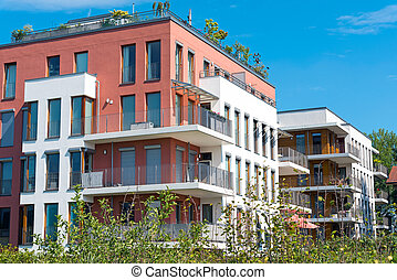 New townhouses seen in Berlin, Germany