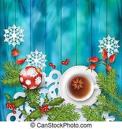 Christmas Tea Party Background