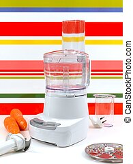 Food Processor - A food processor on a kitch bench