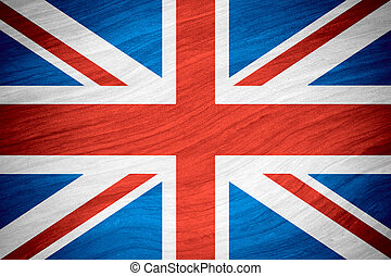flag of Great Britain or British banner on abstract...