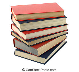 Three blue and three red books - Three blue and three red...
