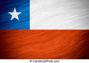 flag of Chile or Chilean banner on abstract background