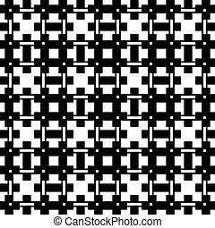 Geometric abstract black and white pattern / texture