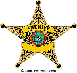 Sheriff badge. Vector illustration