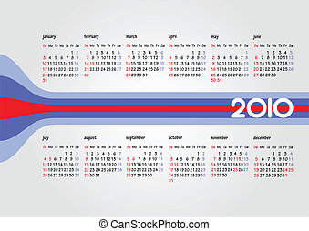 Calendar 2010 with American holida