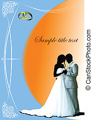 Cover for wedding album. Vector illustration