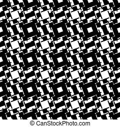 Abstract black and white geometric pattern. Seamlessly...