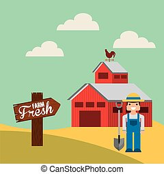 agriculture production landscape icon vector illustration...