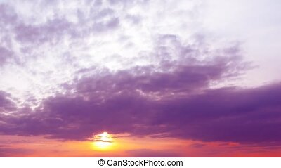 beautiful bright sunset. time-lapse FHD